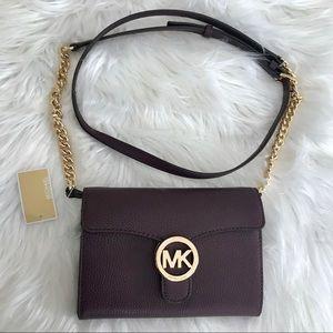 Michael Kors 💜 leather crossbody✨